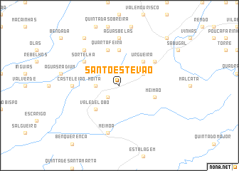 map of Santo Estêvão