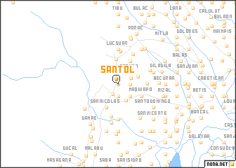map of Santol