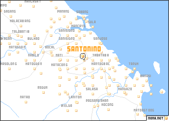 map of Santo Niño