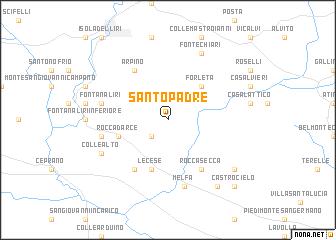 map of Santo Padre