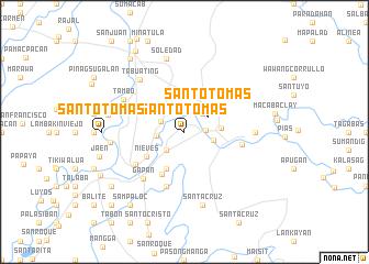 map of Santo Tomas
