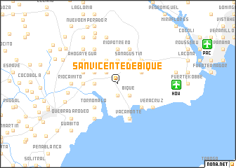 map of San Vicente de Bique