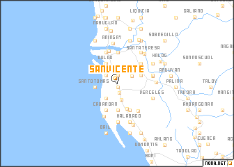 map of San Vicente