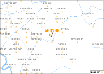 map of Sanywa