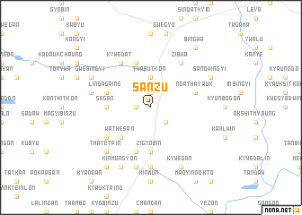 map of Sanzu