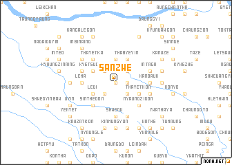 map of Sanzwè