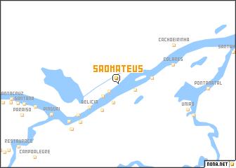 map of São Mateus