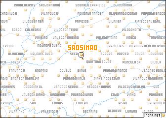 map of São Simão