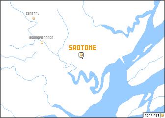 map of São Tomé