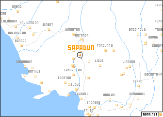 map of Sapadun