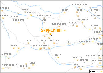 map of Sapal Mīān