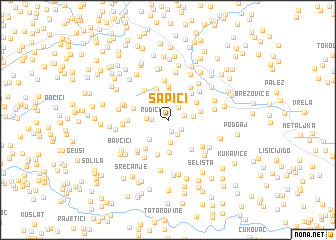 map of Šapići