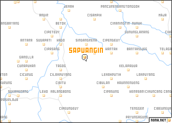 map of Sapuangin