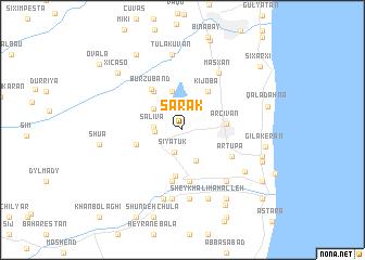 map of Sǝrǝk