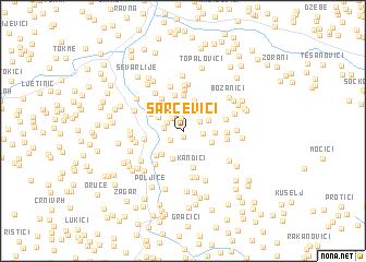 map of Šarčevići