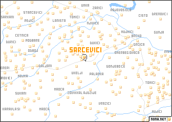 map of Sarcevići