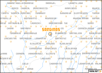 map of Sardinas