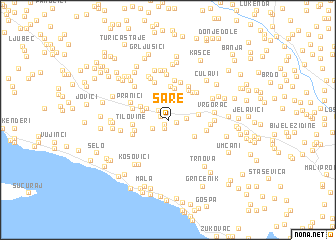 map of Šare