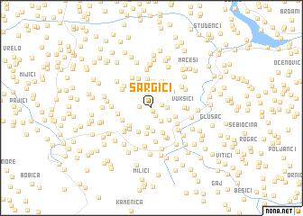map of Šargići