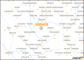 map of Sarhira