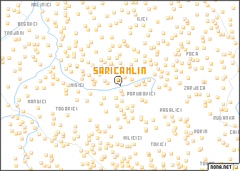 map of Sarića Mlin
