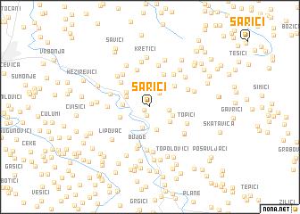 map of Sarići