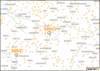 map of Sarići