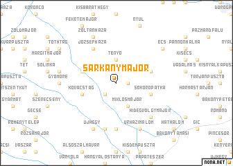 map of Sárkánymajor