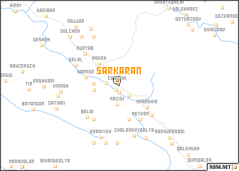 map of Sarkarān