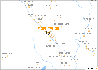 map of Sar Keyvān