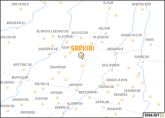 map of Šarkiai