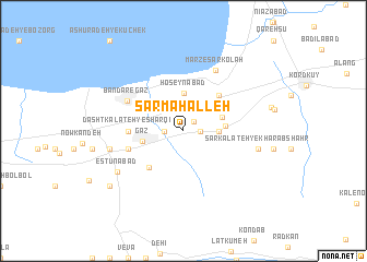 map of Sar Maḩalleh