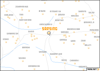 map of Sarsing