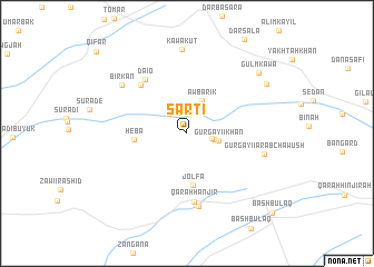 map of Şārtī