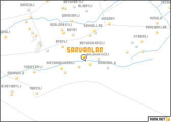 map of Sarvanlar