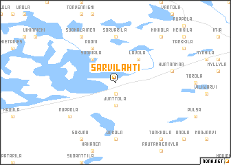map of Sarvilahti