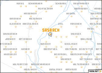 map of Sasbach