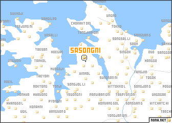 map of Sasŏng-ni