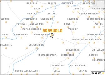 Sassuolo italy map - Sassuolo italia ...