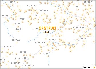 map of Sastavci