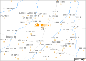 map of Satkūnai