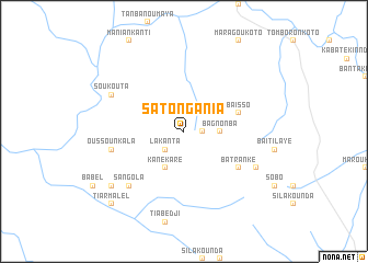 map of Satong Ania
