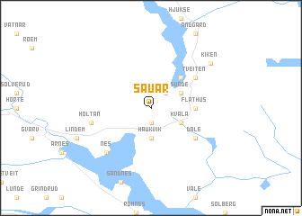 map of Sauar