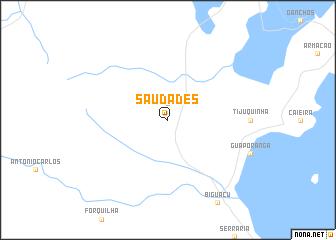 map of Saudades