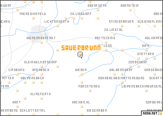 map of Sauerbrunn