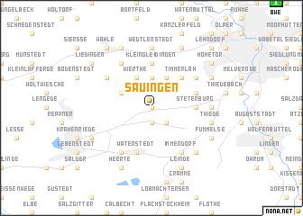 map of Sauingen