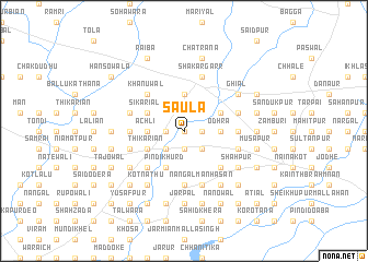 map of Saula
