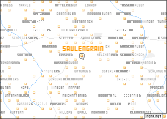 map of Saulengrain