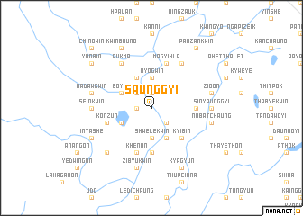 map of Saunggyi