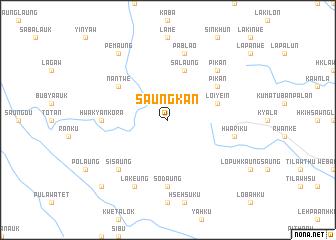 map of Saungkan